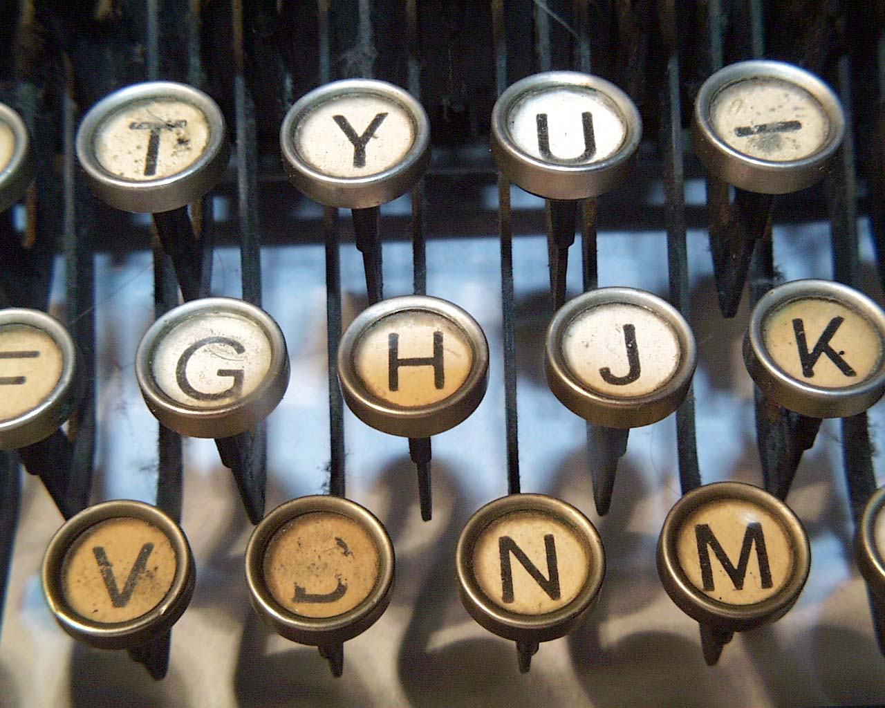typewriter keys: typing ourselves whole!